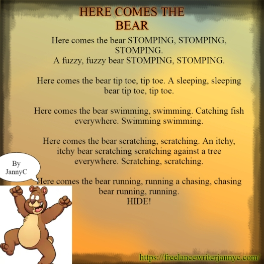 HereComesThe Bear POEM